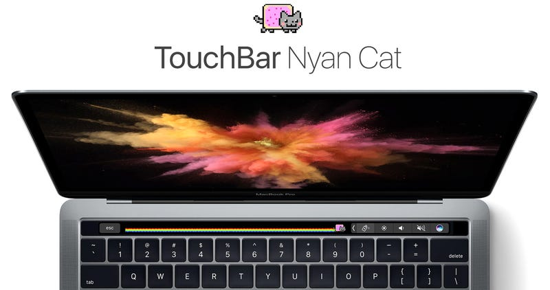 Illustration for article titled Nyan Cat on Your TouchBar Is the Easiest Way to Justify Buying a New MacBook Pro