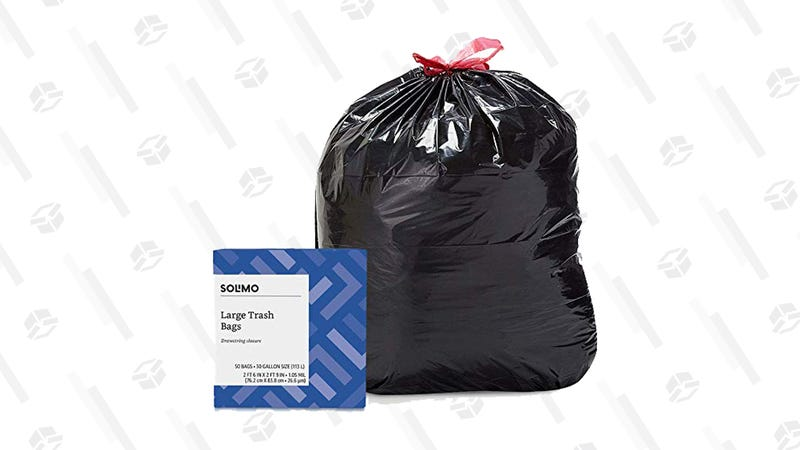 Solimo Multipurpose Drawstring Trash Bags, 30 Gallon, 50 Count | $9 | Amazon