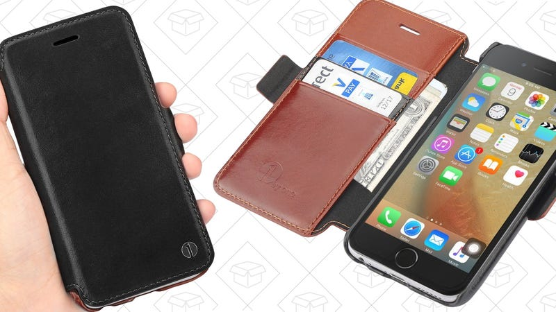 Leather iPhone 6/6s Wallet Case, $7 with code WC5YD5TK
