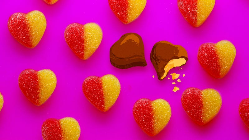 Illustration for article titled Cupid is a sorry confectioner: The heartbreaking state of Valentine's Day candy