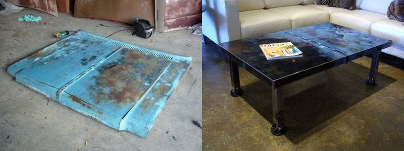 Car Hood Coffee Tables Brings the Garage Into the Living Room
