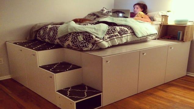 This DIY Platform Bed Saves Space, Has Tons of Storage