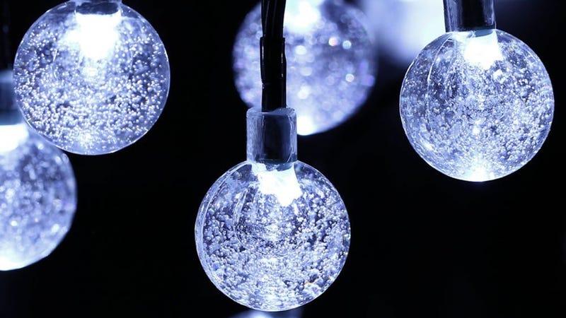 21' Globe Solar LED Lights, $5 with code 56QR4Q9O