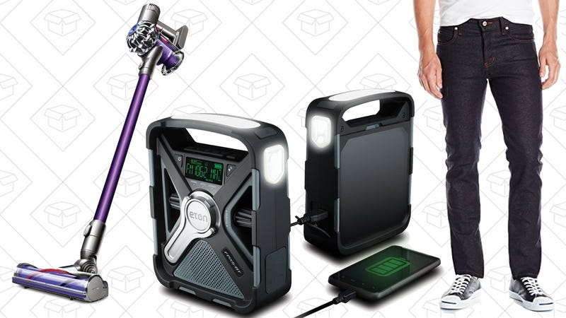 Illustration for article titled Today's Best Deals: Jeans, Dyson V6 Animal, Weather Radio, and More