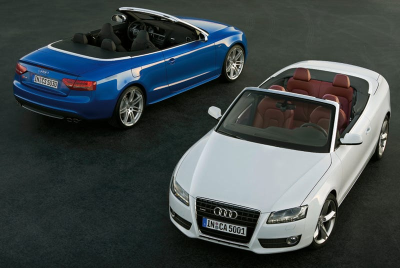 Illustration for article titled Audi A5, S5 Convertibles Open For Business