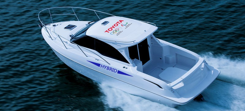 Illustration for article titled This Toyota Hybrid Boat Is Perfect For The Servants And Earth Maybe Kinda