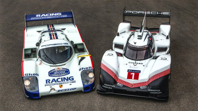 The Cur Nürburgring Record Holding Porsche 956c Next To 919 Hybrid Evo