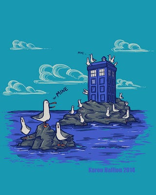Illustration for article titled The seagulls have the phonebox