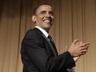 Comedian-in-Chief Barack Obama (YURI GRIPAS/AFP/Getty)