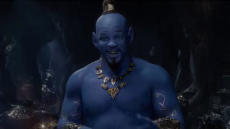 Will Smith, as Genie, in Disney's Aladdin