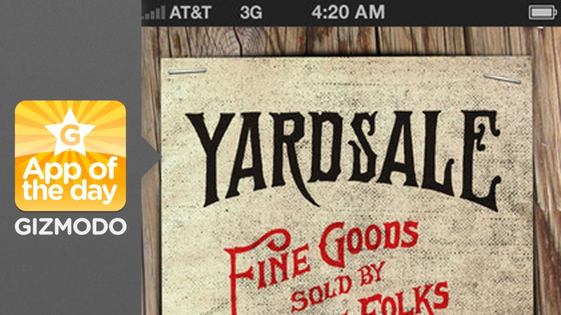 Illustration for article titled Yardsale: Use Your iPhone to Sell Stuff
