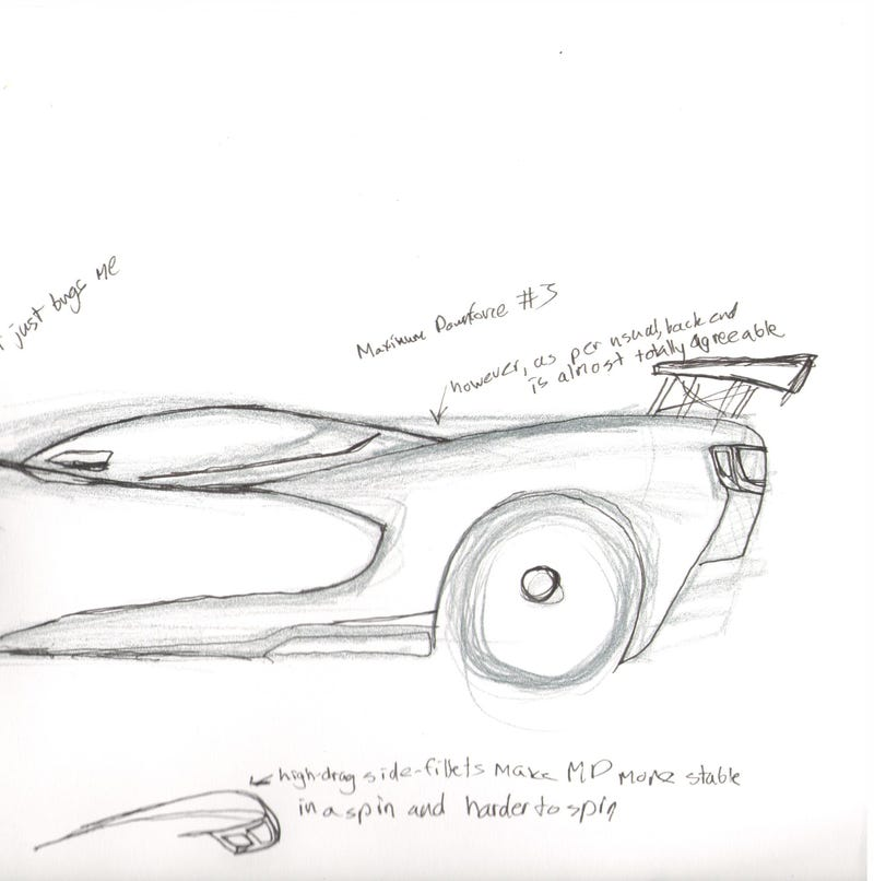 Illustration for article titled There's an excellent supercar design in here. Somewhere.