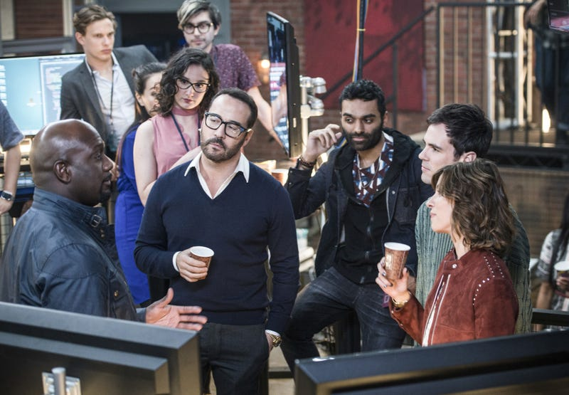 Richard T. Jones, Jeremy Piven, Jake Matthews, Blake Lee, Natalia Tena (Photo: Diyah Pera/CBS)