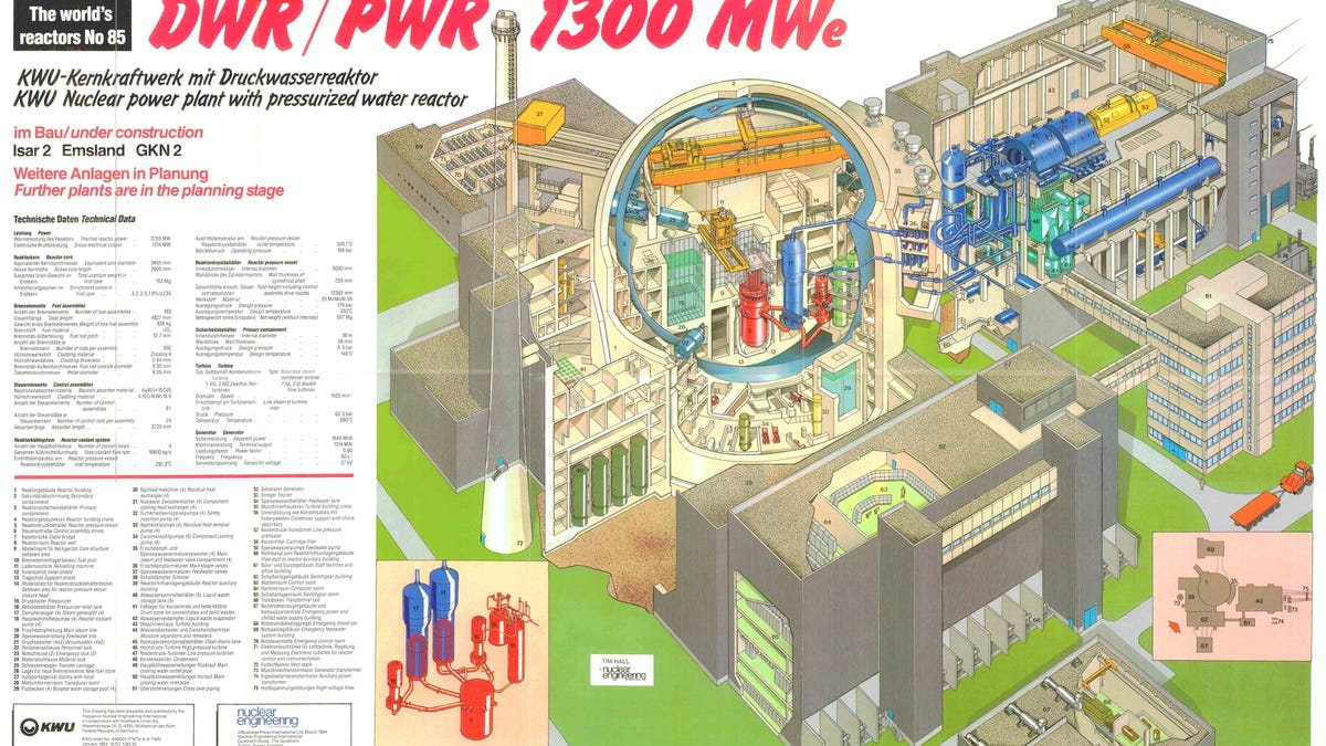 Douglas Point Bwr6 Design Of Nuclear Power Plants T Plant Schematic Minecraft The Worlds Reactors No 99 Kernkraftwerk Krummel Wall Chart Insert