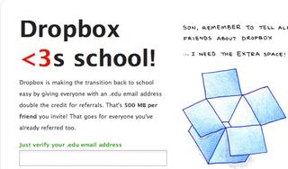 Illustration for article titled Dropbox Giving .EDU Addresses 500 MB per Referral