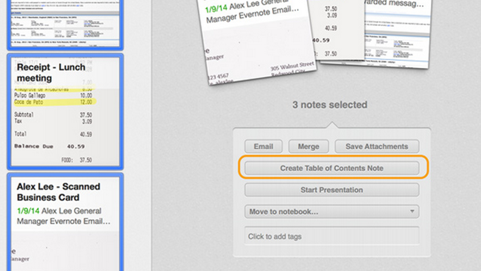Make a table of contents in evernote for easy access to everything reheart Gallery