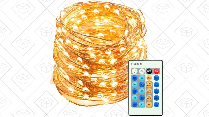 TaoTronics 66' 200LED Dimmable Copper String Lights, $30 with code T224PTLO