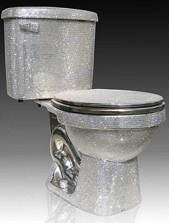 Illustration for article titled Swarovsky-Encrusted Toilet Covers All Of Toilet, Not Just Insides, In Crap