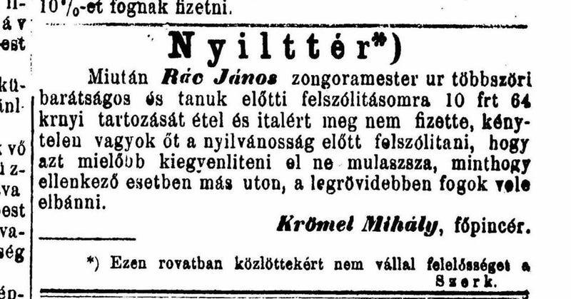 Illustration for article titled A nap legstílusosabb fenyegetőzője Krömel Mihály főpincér