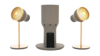 Illustration for article titled These Gorgeous Spotlight Speakers Beam Sound, Not Light
