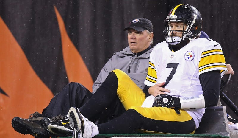 Illustration for article titled Report: Ben Roethlisberger Has A Separated Shoulder, But He'll Try To Play At Denver
