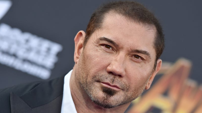 """Illustration for article titled Dave Bautista finds Disney """"pretty nauseating"""" after James Gunn's firing"""