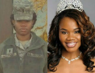 Jasmine Alexander on Peterson Air Force base in Colorado Springs; as Miss Black USACourtesy of Jasmine Alexander; courtesy of Miss Black USA