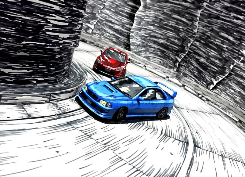 Illustration for article titled Manga Style Paint Jobs For Model Cars Still Look Incredible