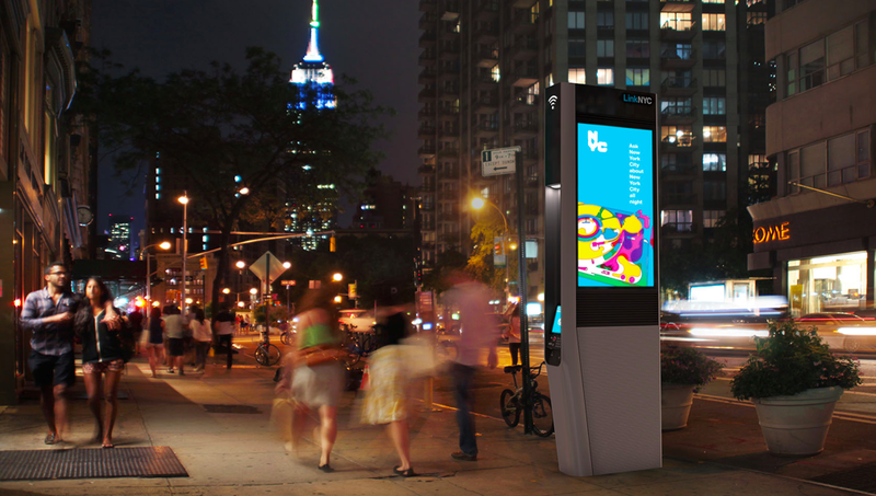 A LinkNYC kiosk in New York City