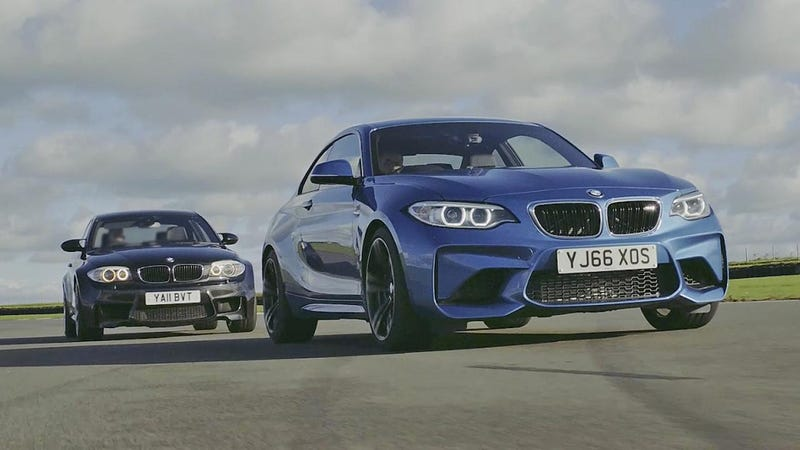 Illustration for article titled Chris Harris Finds Out If The BMW M2 Can Take Down The Legendary 1M Coupe