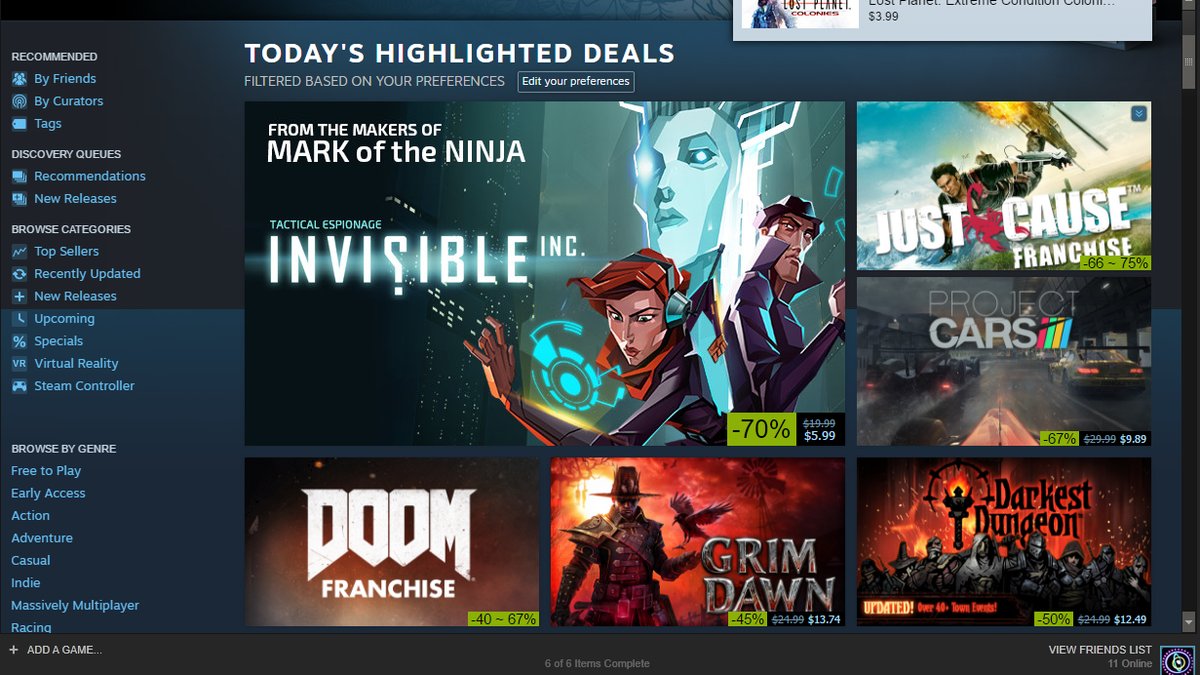 How To Get The Best Deals During This Weeks Steam Sale Wallet 12