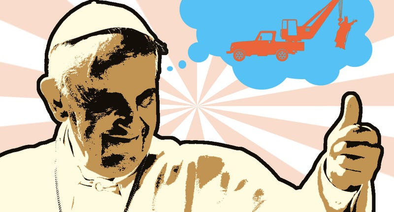 Illustration for article titled Here's Five Realistic Ways To Make A Better Popemobile