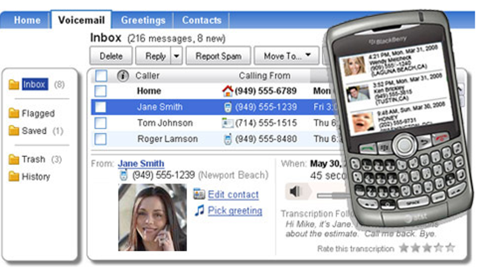 Youmail Replaces Transcribes Your Voicemail