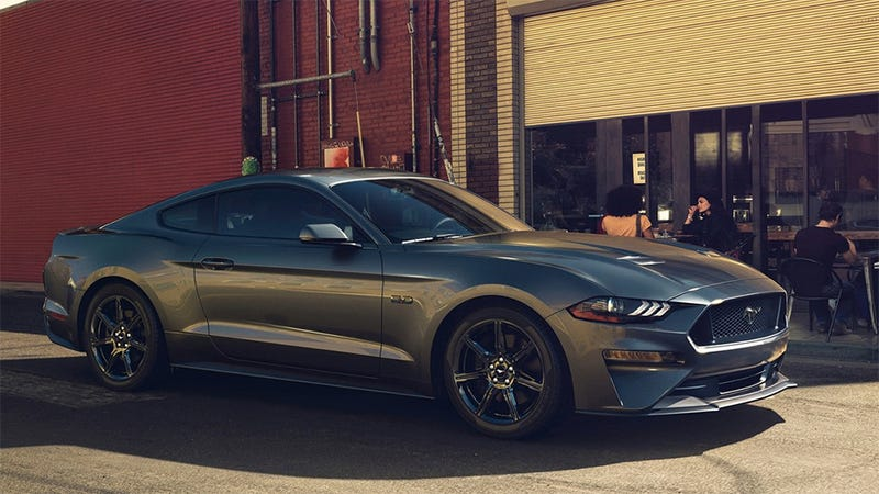 A 2018 Mustang which is, sadly, not a Bullitt though it kind of looks like it could be. (Image Credit: Ford)