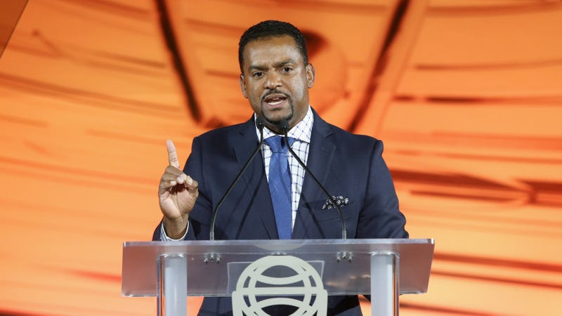 Host Alfonso Ribeiro speaks onstage during the Clio Entertainment Awards 2018 at Dolby Theatre on November 15, 2018 in Hollywood, California.