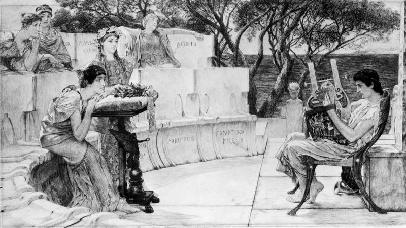 Illustration for article titled Great News, Citizens of Lesbos! Two New Sappho Poems Found