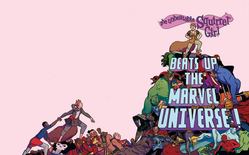 Illustration for article titled The Unbeatable Squirrel Girl Takes on the Entire Marvel Universe, Will Likely Remain Unbeaten