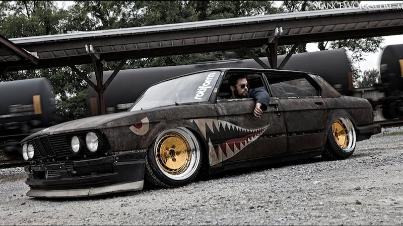 meet rusty slammington bmw gets chopped slammed and rubbed the wrong way. Black Bedroom Furniture Sets. Home Design Ideas