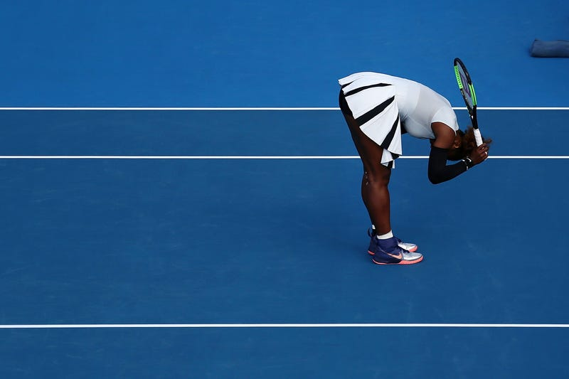 Serena Williams puts shock exit down to wind""