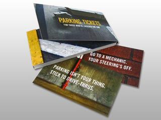 Illustration for article titled Bad Parking Job? Try These Passive-Aggressive Parking Tickets