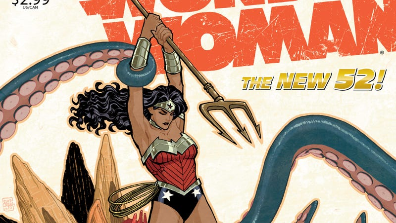 Illustration for article titled Princess Diana Goes Fishing for Monsters in This Wonder Woman #5 Preview
