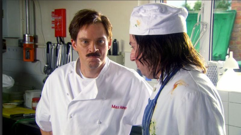 Mitchell and webb send up kitchen nightmares and true for Q kitchen nightmares