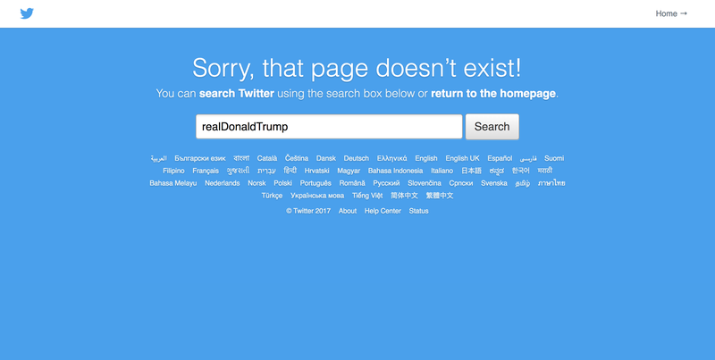 President Donald Trump's Twitter account mysteriously disappeared for several minutes