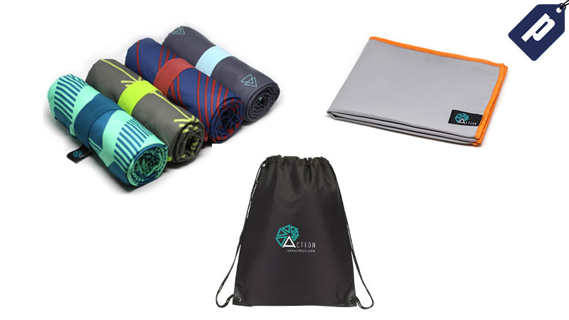 Illustration for article titled Save 50% On The Acteon Microfiber Towel + A Free Gym Towel & Bag ($15)