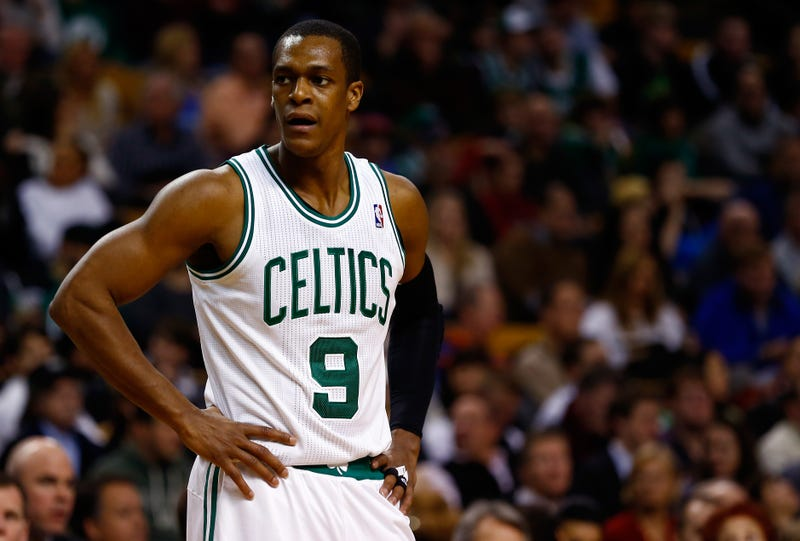 Illustration for article titled So Did Rajon Rondo Break His Hand At A Trampoline Park Or Not?
