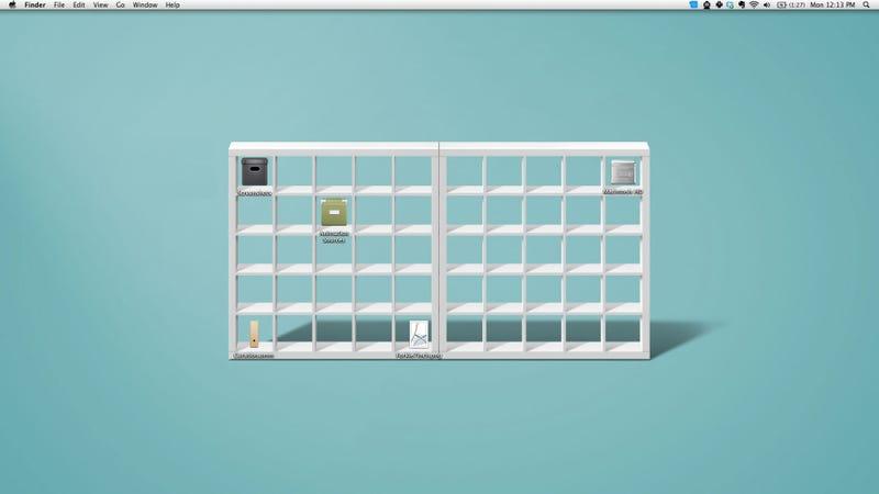 Illustration for article titled IKEA Shelf Desktop