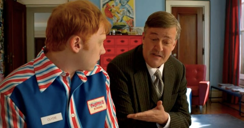 Illustration for article titled Watch the pilot for Super Clyde with Stephen Fry and Rupert Grint