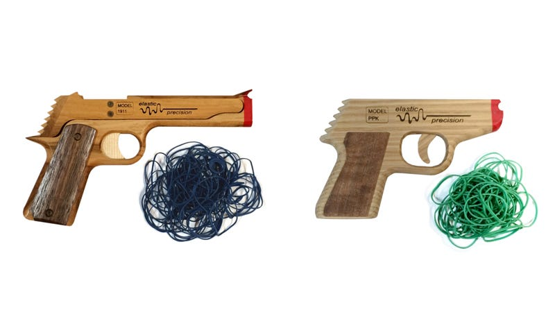 Illustration for article titled Get 55% Off These Rubber Band Guns And Be a Kid Again (From $9)
