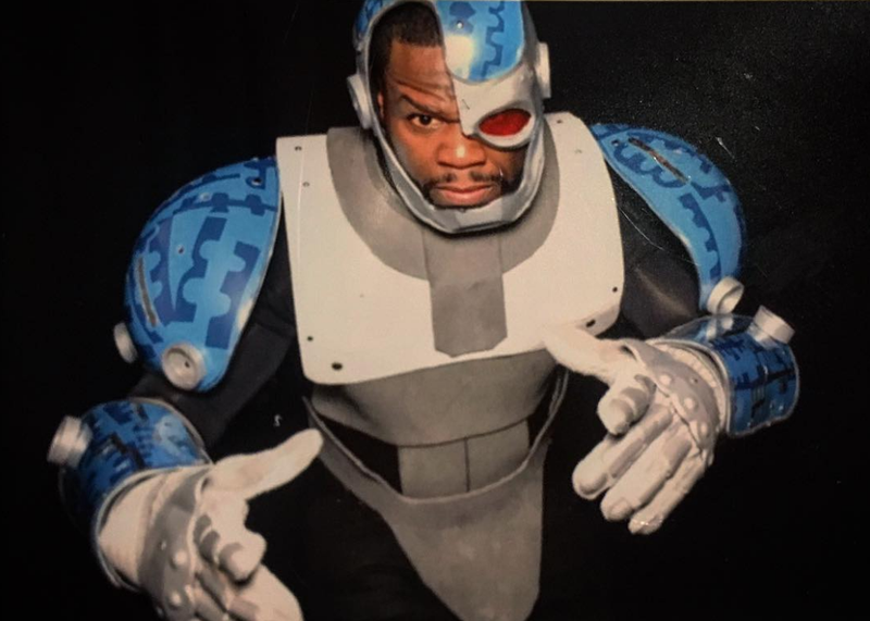 Illustration for article titled 50 Cent Cosplayed as Teen Titans Go's Cyborg for His Son's Birthday