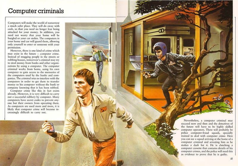 Illustration for article titled Computer Criminals of the Future (1981)